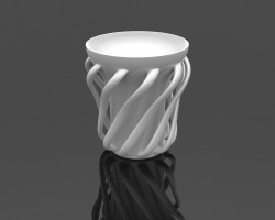 流苏杯 (SolidWorks设计,SLDDRW格式)