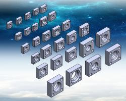 F3系列法兰组 (SolidWorks设计,Sldprt/Sldasm/x_t格式)