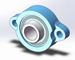 带座轴承-轻型菱形法兰(SolidWorks/Creo/UG设计,step格式)