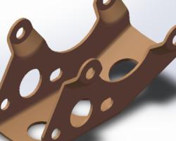 发动机前托架 (SolidWorks设计,Sldprt格式)
