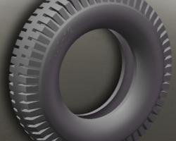 三轮摩托车前后外胎 (SolidWorks设计,Sldprt格式)