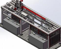 高速移栽机 (SolidWorks/ProE/UG(NX)/Catia设计,step(stp)格式)