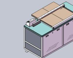 PCB板毛料切割机 (SolidWorks设计,Sldprt/Sldasm格式)
