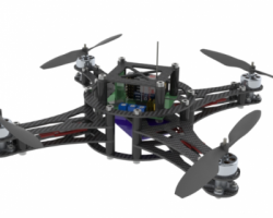 微型四旋翼直升机 (SolidWorks/ProE设计,step/iges/Sldprt/Sldasm/dwg/dxf格式)