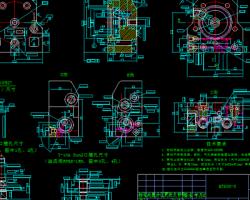 液压马达 CAD图纸(AutoCAD.Mechanical设计,dwg格式)