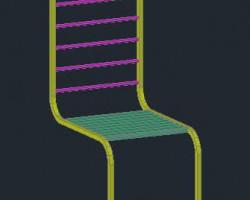 木质家用椅子CAD三维模型 (AutoCAD.Mechanical设计,dwg格式)