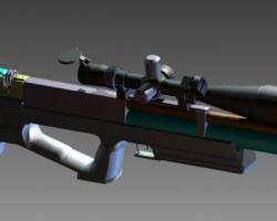 PCP airgun 效果作品 (SolidWorks设计,step格式)
