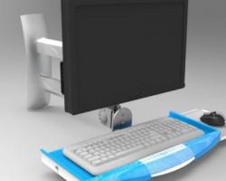 工业设备显示器键盘鼠标一体支架(ProE/Creo设计,step格式)