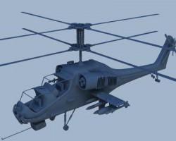 战斗直升机(3dsMax设计,MAX格式)