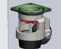 福马轮(3寸脚轮)(SolidWorks设计,Sldprt格式)