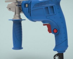 冲击电钻(SolidWorks设计,step格式)