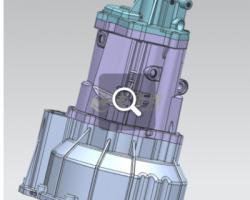 变速器壳体(北汽银翔 M20) 5TR15A01(SolidWorks/3dsMax设计,step/Prt/stl格式)