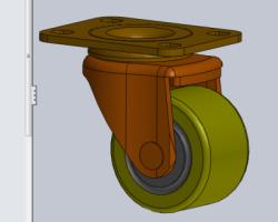 万向轮(SolidWorks设计,Sldprt格式)