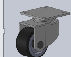 2寸万向轮(SolidWorks设计,Sldprt格式)