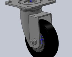 4寸万向轮(SolidWorks设计,Sldprt/Sldasm格式)