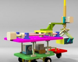 搬运整理机器人(SolidWorks设计,Sldprt/Sldasm格式)
