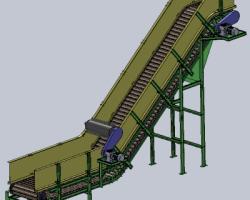链板输送机、链板运输机(SolidWorks设计,step/Sldprt/Sldasm格式)
