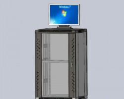 标准网络机柜(SolidWorks设计,Sldprt/SLDDRW格式)