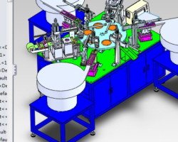 转盘式三层盖组装机(SolidWorks设计,step/Sldprt/Sldasm/x_t格式)