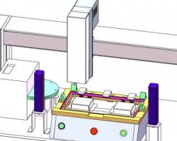 笔记本电脑外框自动锁螺丝机(UG/PRO/E/SW设计,step/Sldprt/Sldasm格式)