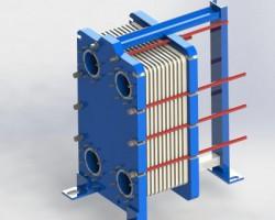 MGS-16板式换热片(SolidWorks设计,step格式)