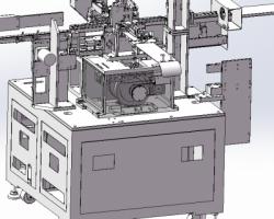 凸轮插针机(SolidWorks/ProE/Creo设计,step格式)