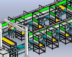 组装循环倍速链线(SolidWorks/ProE设计,step格式)