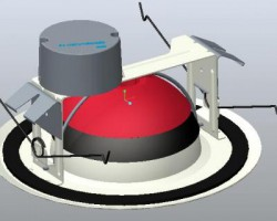 360度旋转LED吸顶灯(ProE设计,step格式)