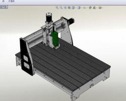 三轴数控机床(SolidWorks设计,Sldprt格式)