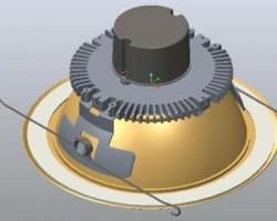 现代 LED吸顶灯(ProE设计,step格式)