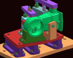 液压夹具(UG设计,step格式)