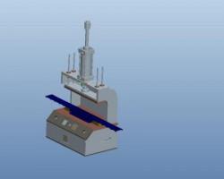 热压铜螺母机(ProE/AutoCAD设计,step/iges/dxf格式)