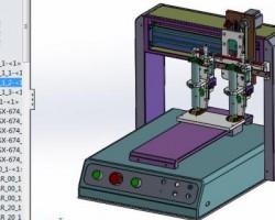 三轴桌上型自动点胶机(SolidWorks设计,Sldprt/Sldasm格式)