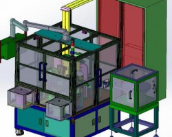弹簧扣件自动组装机(SolidWorks设计,Sldprt/Sldasm/SLDDRW格式)