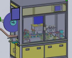 非标自动化组装机(SolidWorks设计,step/x_t格式)