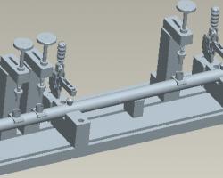 火焰焊工装(SolidWorks/ProE设计,step格式)