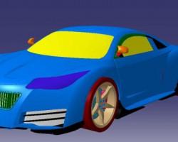 豪华跑车设计(Catia设计,CATPart格式)