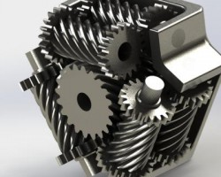 托森式自锁差速器(SolidWorks设计,Sldprt/Sldasm格式)