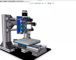 微型加工中心(SolidWorks设计,Sldprt/Sldasm格式)