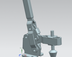 一款详细而且比较巧妙的自动夹具(SolidWorks设计,step/Sldprt/Sldasm格式)
