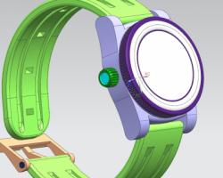 一款小孩子手表(SolidWorks/UG设计,step/Sldprt格式)