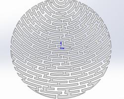 圆形-迷宫模型(SolidWorks设计,Sldprt格式)