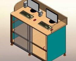 电脑桌(SolidWorks设计,Sldprt/Sldasm格式)