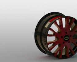 19寸轮毂+轮胎(SolidWorks设计,Sldprt格式)