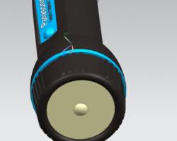 一个手电筒的3d(SolidWorks/ProE/Creo.Elements/UG设计,step格式)