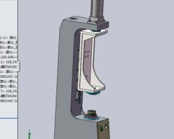 轴承厚度测量复检机(SolidWorks设计,Sldprt/Sldasm格式)