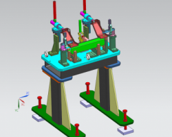 焊接夹具(UG设计,step格式)