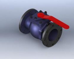DN125法兰球阀(SolidWorks/ProE设计,step格式)