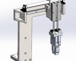 取料机械手(SolidWorks设计,step格式)