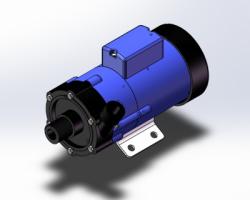 磁力泵全套图纸(SolidWorks设计,Sldprt/Sldasm/dwg/dxf格式)